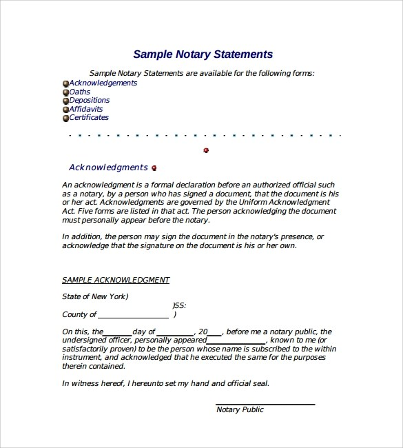 Notarized Letter - 8+ Download Free Documents in PDF , Word