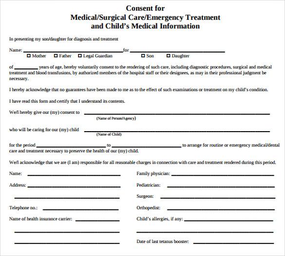 Free Child Travel Consent Form Template  NodeCvresume