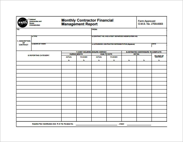 Financial Report Template Word Excel PDF Monthly - mandegarinfo - monthly report template word
