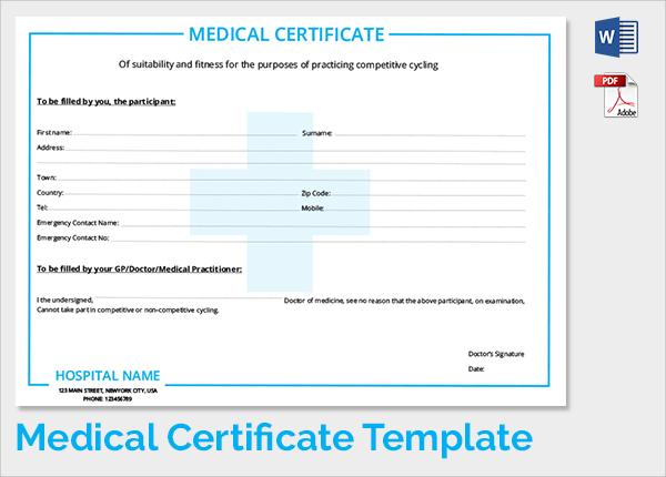Free medical certificate node2002 cvresumeasprovider sample medical certificate 33 download documents in pdf word free medical certificate yadclub Image collections