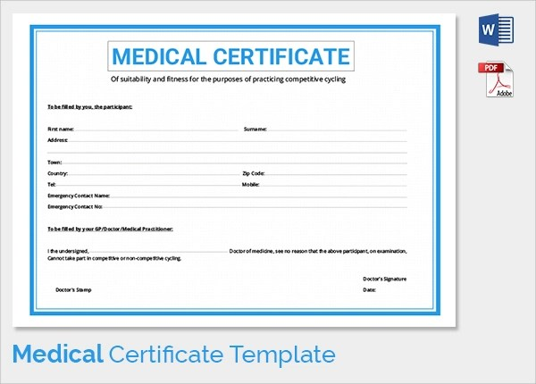 medical fitness certificate luxury medical fitness certificate