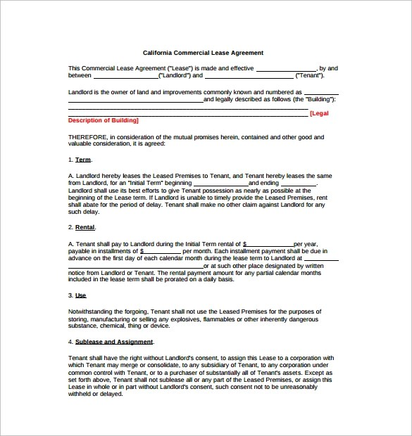 11+ Lease Extension Agreements \u2013 Sample, Example, Format Sample