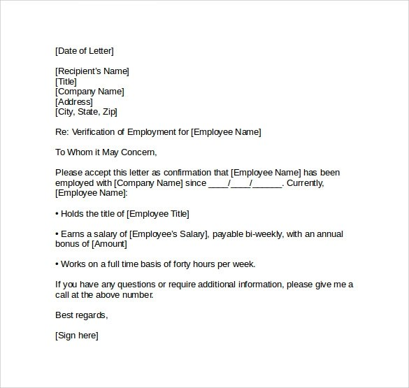 Parent Authorization Letter For Minors Traveling To Mexico Employment Verification Letter 14 Download Free