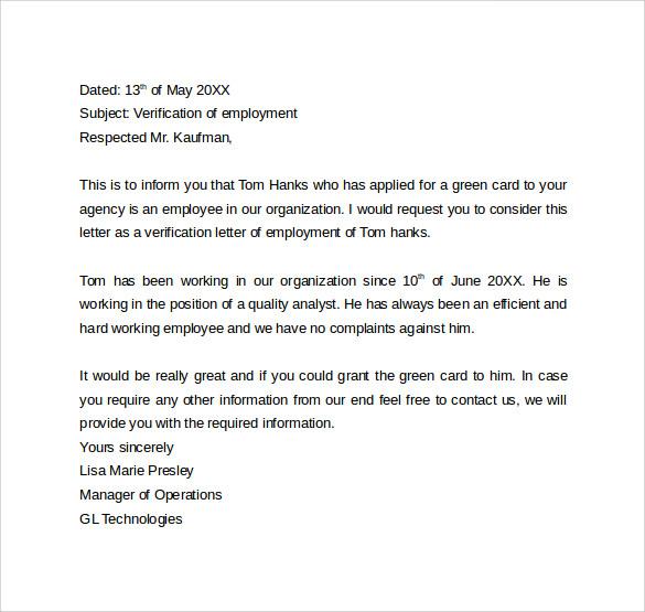 previous employment verification letter templatebillybullock - employee verification letter