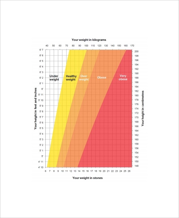 7+ Sample Height Weight Charts Sample Templates