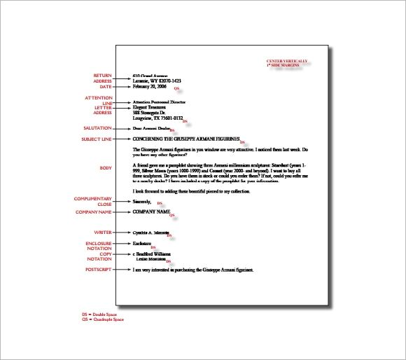 spacing for letter of recommendation