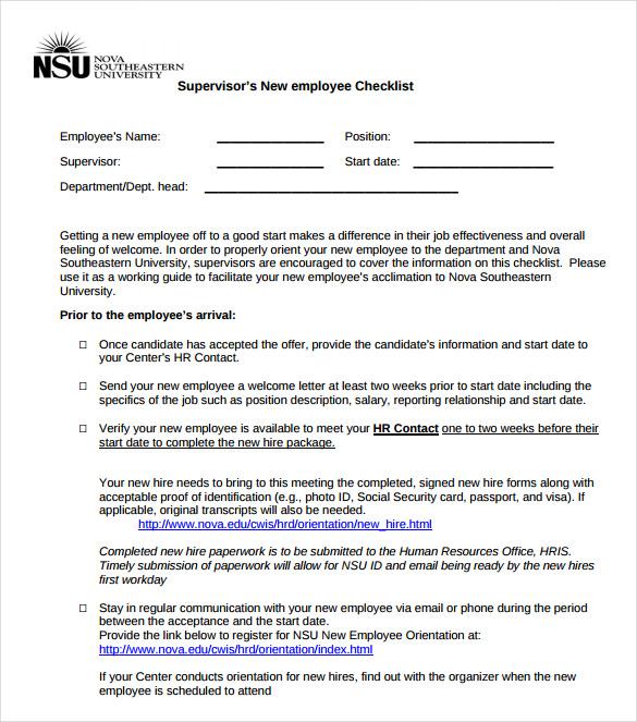 new hire paperwork checklist template - Jolivibramusic