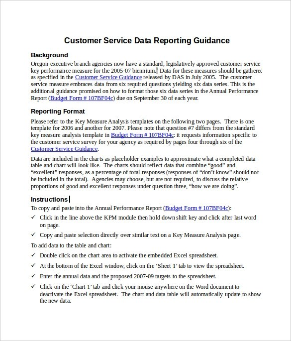 Sample Service Report - 6+ Documents In PDF, Word - service form in word