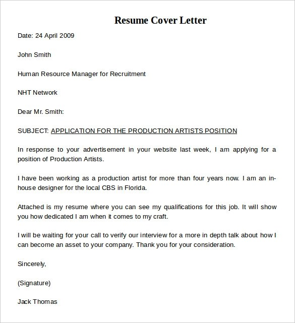 Cover Letter For A Bookkeeper In An Sme Tra Resume Cover Letter Example 8 Download Documents In Pdf