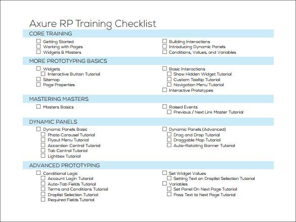 12+ Training Checklist Samples Sample Templates - sample training checklist template