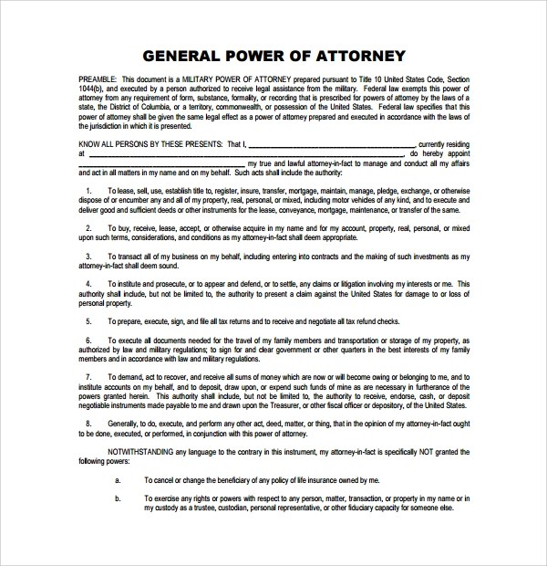 sample medical power of attorney form example efficiencyexperts - general power of attorney forms