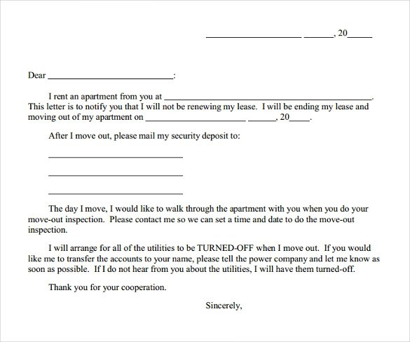 9 Early Lease Termination Letters to Download Sample Templates