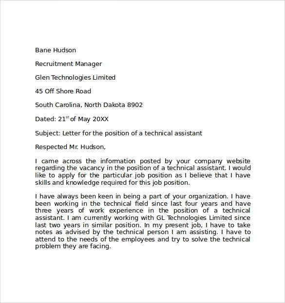 10+ Simple Cover Letter Examples Sample Templates - Simple Cover Letter Example