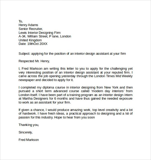 10+ Simple Cover Letter Examples Sample Templates - simple cover letter template