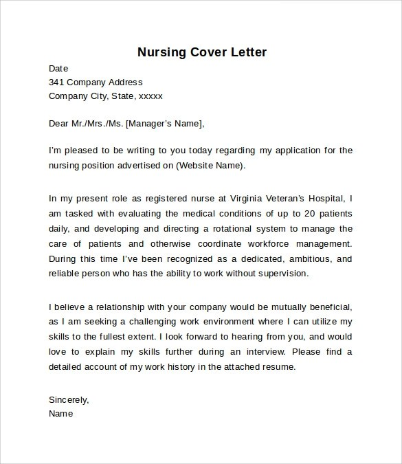 Cover Letter Nursing The Best Nursing Cover Letter Ideas On