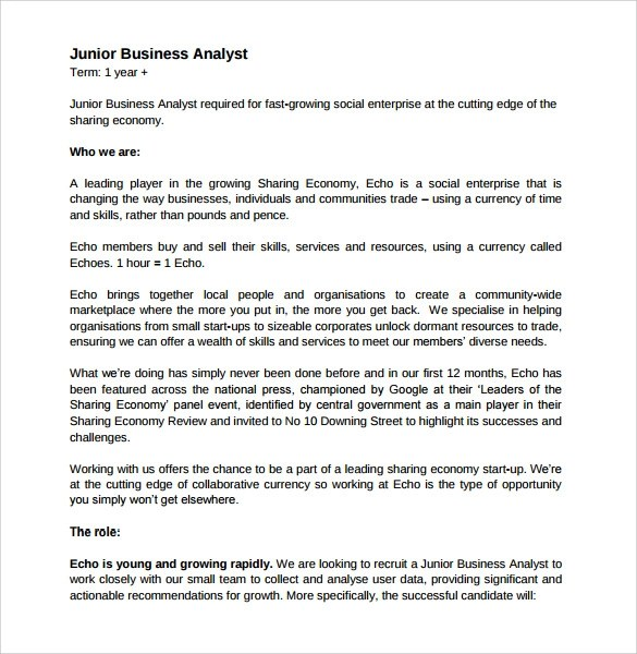 9+ Sample Business Analyst Resumes Sample Templates - sample business resume