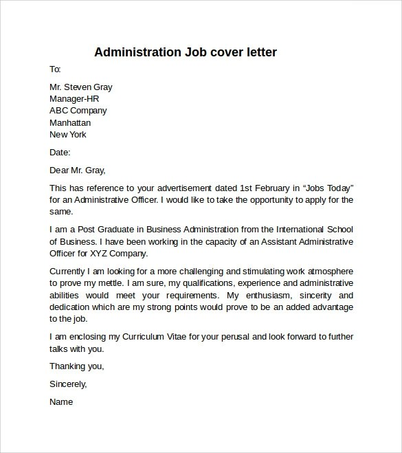 Nurse Cover Letter Example Sample Cover Letter Example For Job 10 Download Free Documents