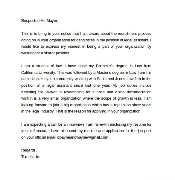 Legal Letter Format Sample  Letter Verifying Student Enrollment