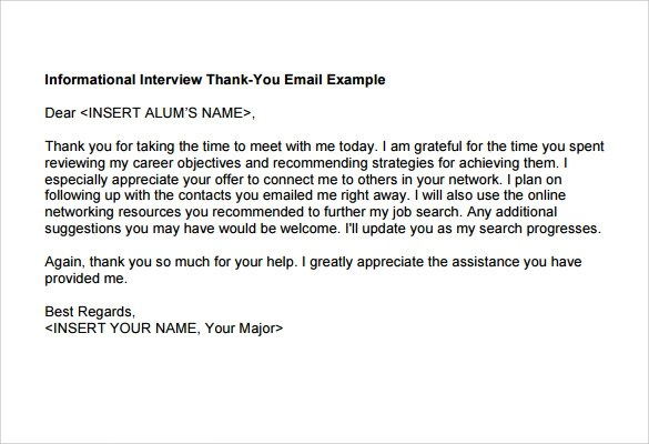 6+ Thank You Note After Phone Interview Samples Sample Templates - interview thank you email