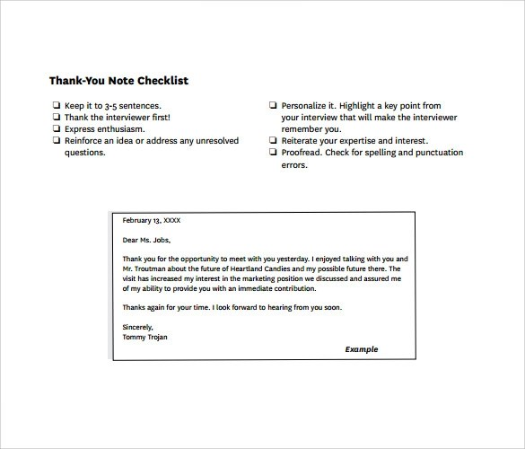 Sample Thank You Note After Interview With Recruiter Sample Resume