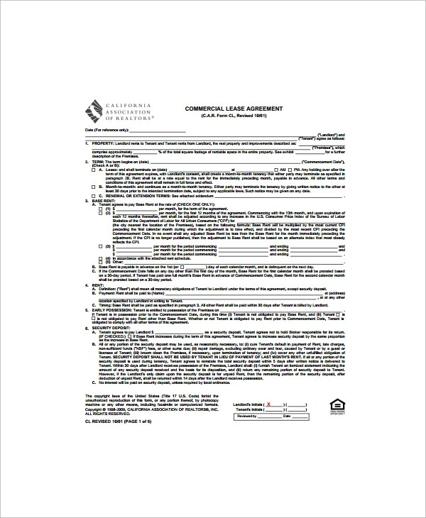 Sample Lease Termination Agreement - Free Documents Download - sample commercial lease agreement