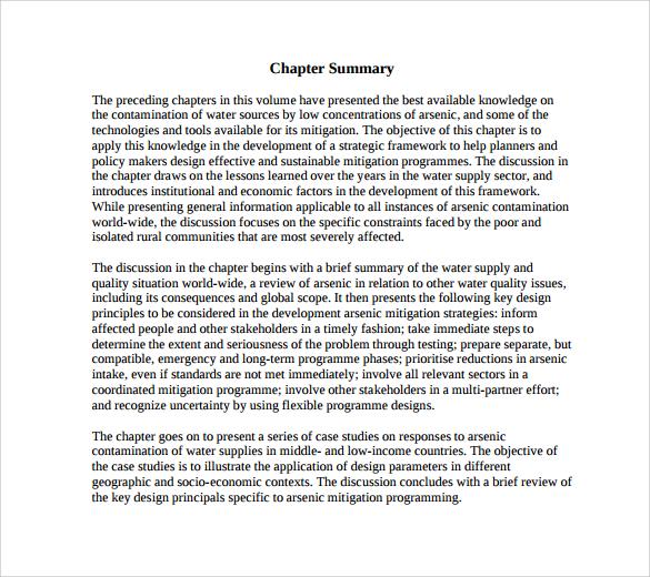 Chapter Summary Template - Costumepartyrun