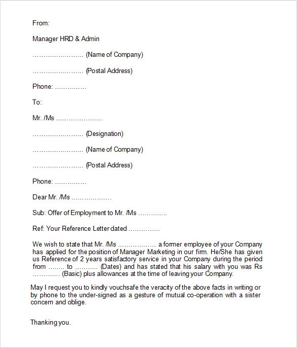 Ready To Use Credit Card Payment Form Employment Verification Letter 14 Download Free