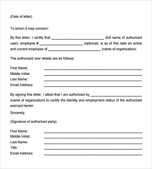 Employment Verification Letter - 14+ Download Free Documents in PDF