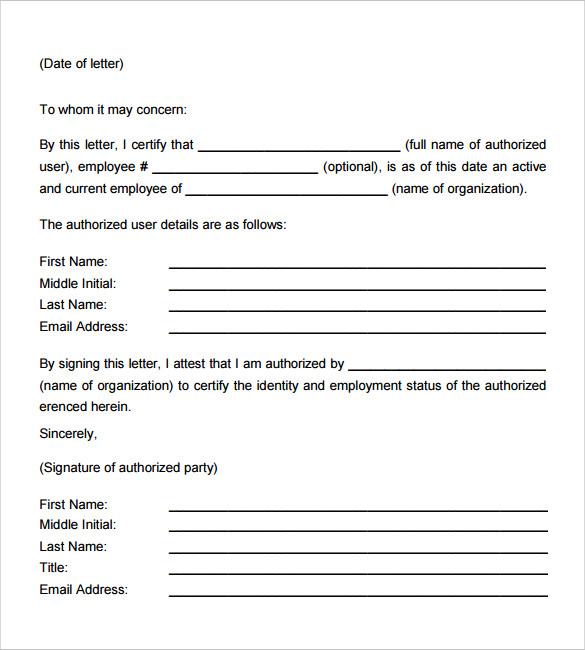 18 Employment Verification Letter Templates Download for Free - examples of employment verification letters