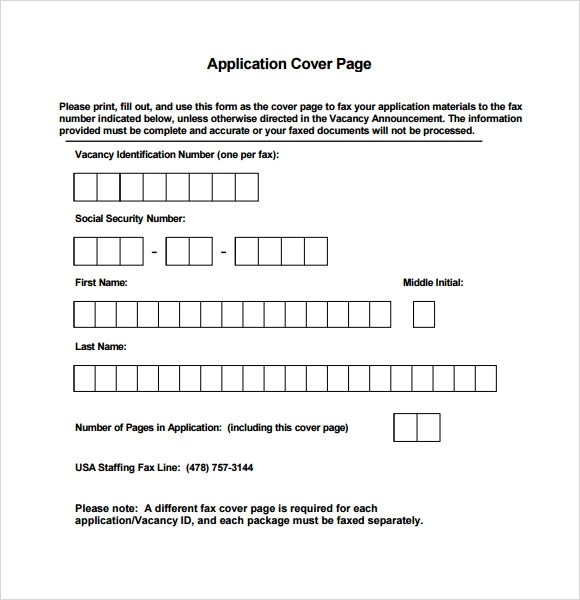 Sample Cover Page Template - 8+ Documents in PDF , Word - cover page template word free