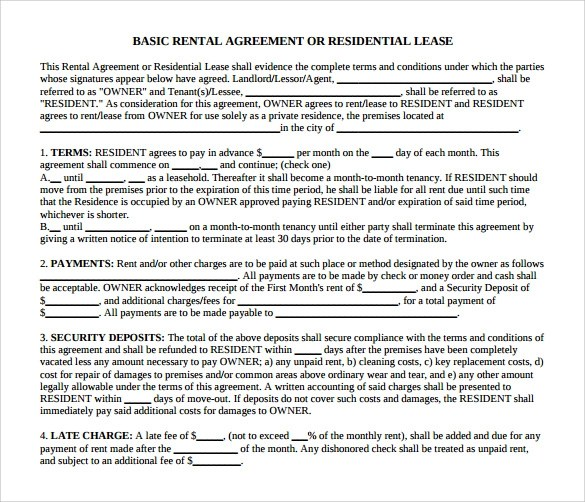 13+ House Lease Agreement Templates Free Download Sample Templates - house rent contracts