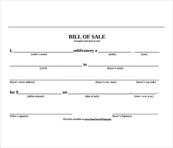 basic bill of sale template - 28 images - 11 vehicle bill of sales - free bill of sale template word