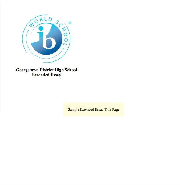 Sample Cover Page Template - 8+ Documents in PDF , Word