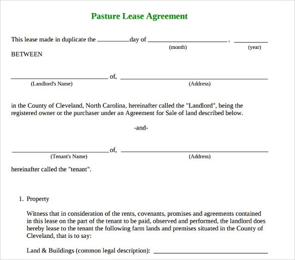10+ Sample Basic Lease Agreement Templates Sample Templates