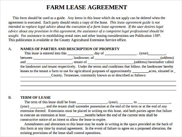 Sample Basic Lease Agreement - 9+ Documents In PDF - sample pasture lease agreement template