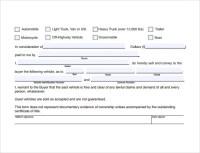 8+ Sample Auto Bill of Sales | Sample Templates