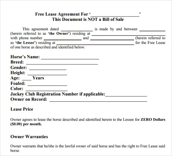 free lease agreement - Josemulinohouse