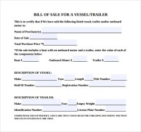 Good Trailer Bill Of Sale Template Pictures >> 7 Boat Bill ...