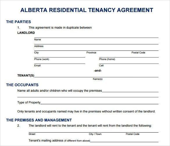16 Printable Lease Agreement Templates Download for Free Sample - printable rental agreement