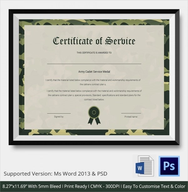 Sample Certificate Of Service Template Business Gift Certificate - sample certificate of service template