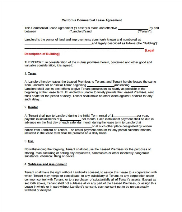 Sample Commercial Rental Agreement Uk  Resume Maker Create
