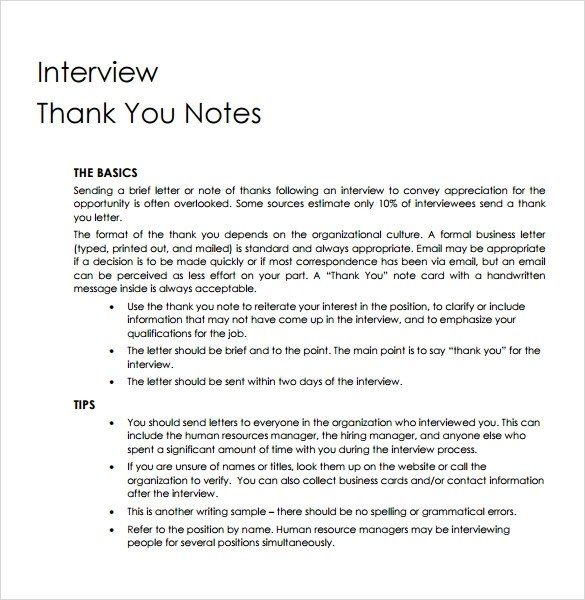 Thank You Letter Format Professional | Sample Resume For