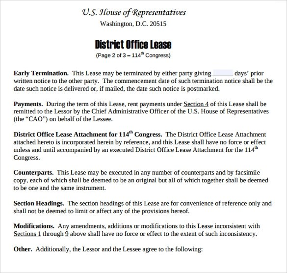 9+ Sample Office Lease Agreements Sample Templates - sample office lease agreement