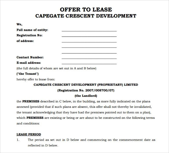 office lease form - Towerssconstruction
