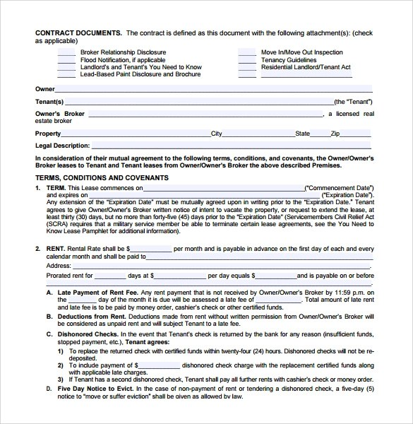 Lease Agreement Template For Free Write A Successful Job Application