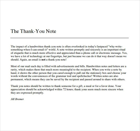 thank you notes for boss - Canasbergdorfbib