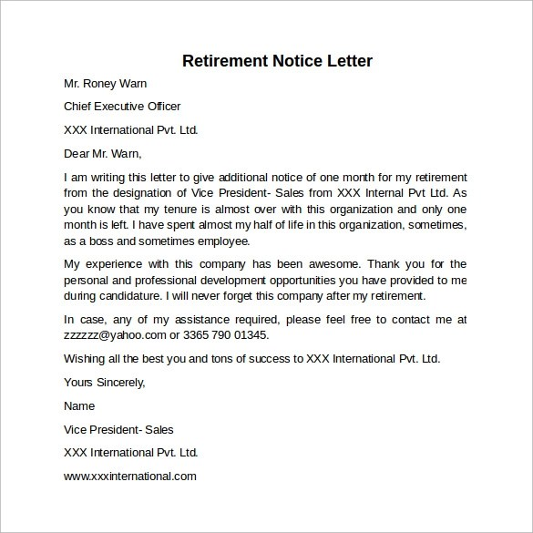 30 days letter - Fashionstellaconstance - 30 day notice letter