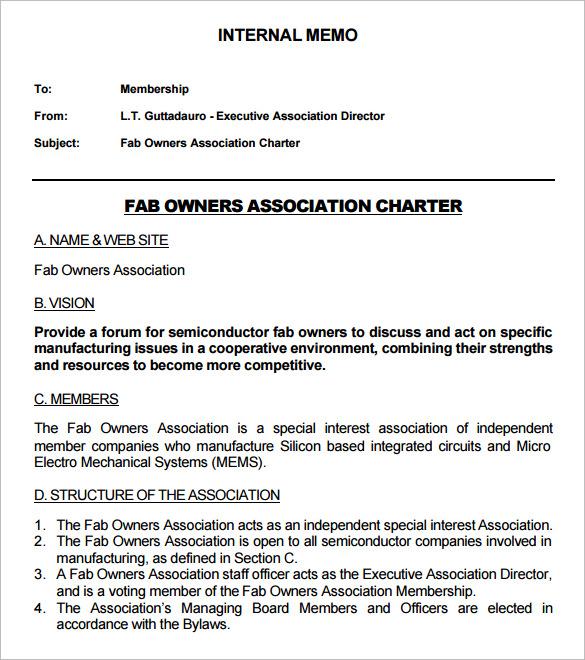 19+ Formal Memorandum Templates - Free Sample, Example, Format - formal memorandum template