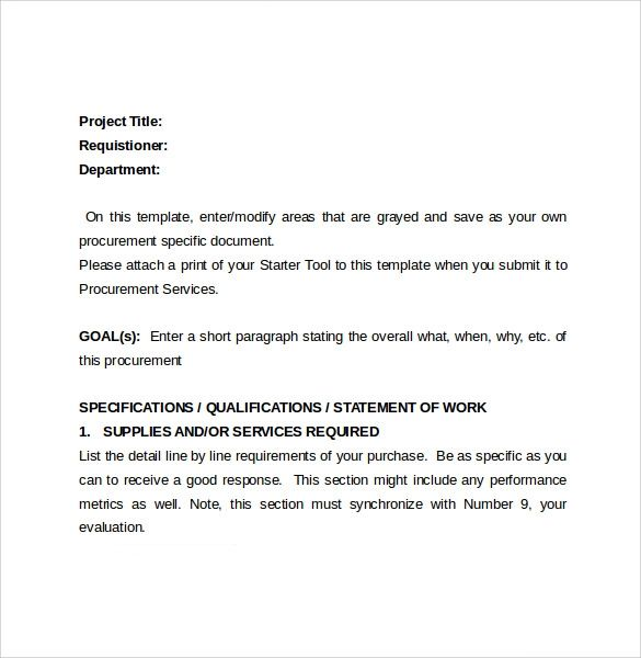 bid proposal sample