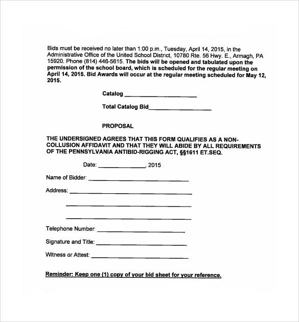 bid proposal hitecauto - bid proposals